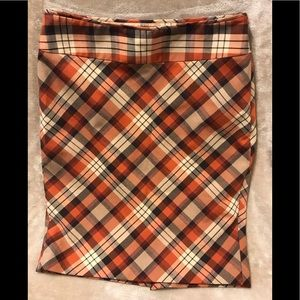 The Limited, Women's Size: 6, Plaid Lined Skirt